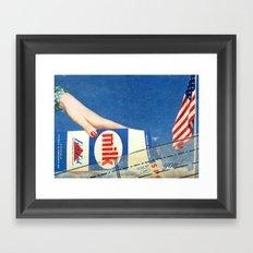 Milking America Framed Art Print