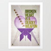 Broken Heart Is A Deadly… Art Print