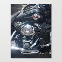 Harley Electra-Glide Canvas Print