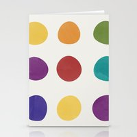 Color Dots Stationery Cards