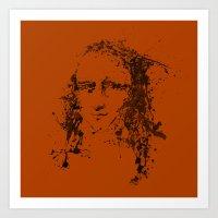 Modern Lisa (orange) Art Print