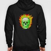 Flaming Skull Hoody