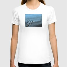 Hunted Branch Womens Fitted Tee White SMALL