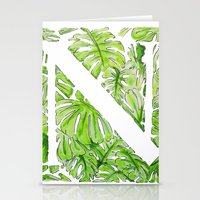 Letter N Stationery Cards