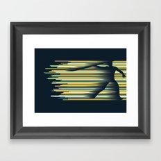 Olympic Javelin Framed Art Print