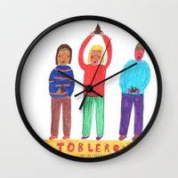 Toblerone. Wall Clock