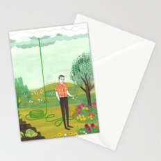 Using Rain Stationery Cards