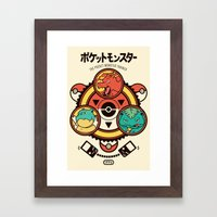 Pocket Monster Trainer Framed Art Print