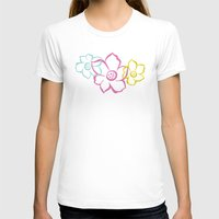 Bouquet | Festive Womens Fitted Tee White SMALL