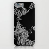 Passport Stamp Map Special Edition, Black and White iPhone 6 Slim Case