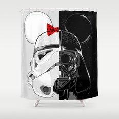 Mini Trooper vs. Vader Mouse Shower Curtain