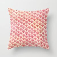 Coral Scales Throw Pillow