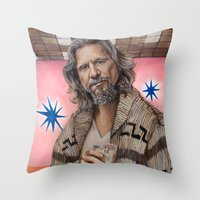 The Dude / The Big Lebowski / Jeff Bridges Throw Pillow