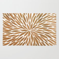 Rose Gold Burst Rug