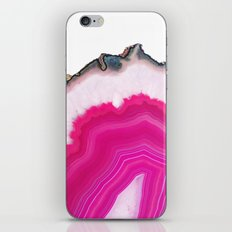 Pink Agate Slice iPhone & iPod Skin