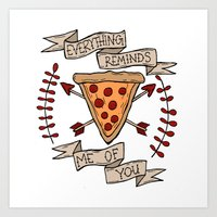 Everything Reminds Me Of… Art Print
