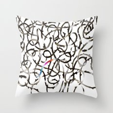 Unmapped 9 Throw Pillow