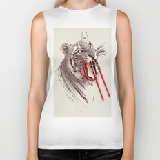 Light Saber Tooth Tiger Biker Tank