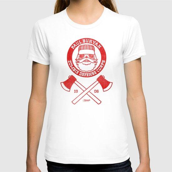 Paul Bunyan Zombie Defense Corps T-shirt