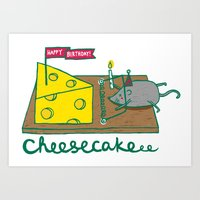 Cheesecake Art Print
