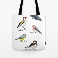 English Birds Tote Bag