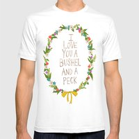 I love you and bushel and a peck Mens Fitted Tee White SMALL