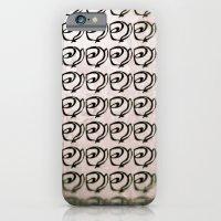 Rows Of Flowers, Pink iPhone 6 Slim Case