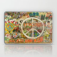 Peace Sign - Love - Graf… Laptop & iPad Skin