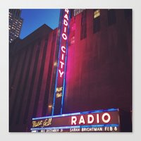 Radio City, New York Canvas Print