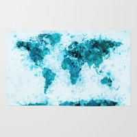 World Map Paint Splashes… Rug