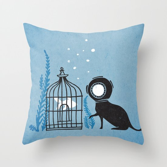 We can be friends Throw Pillow