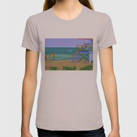 South Beach Womens Fitted Tee Cinder SMALL