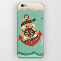 Sail The Seven Seas iPhone & iPod Skin