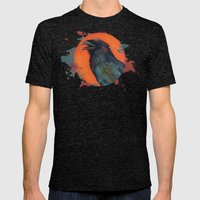 Raven Sun Mens Fitted Tee Tri-Black SMALL