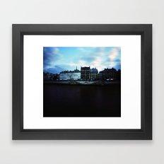 Paris at Dusk: Ile de la Cite Framed Art Print