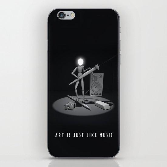 art is just like music iPhone & iPod Skin