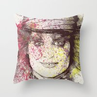 johnny depp (alice in wonderland) Throw Pillow