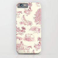 Shire Toile - Red iPhone 6 Slim Case