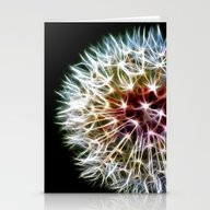 Stationery Cards featuring Fractal Dandelion by Mark Nelson