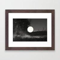 sleepwalking around the sun again Framed Art Print