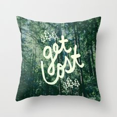 Get Lost x Muir Woods Throw Pillow