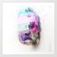 Glitch-face Art Print