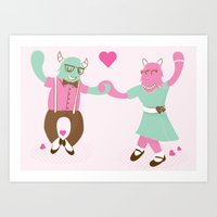 Monster Dance Art Print