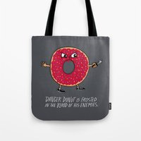 Danger Donut Tote Bag