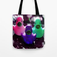 Squeaky duck Tote Bag