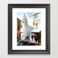 Galata Tower İstanbul Framed Art Print