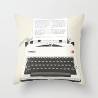 Ruby Sparks Throw Pillow