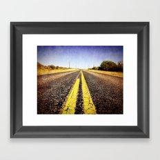 1000 miles to no where  Framed Art Print