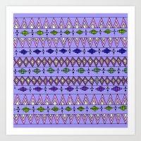 Bright Geo pattern Art Print