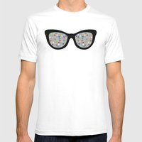 Heart Eyes Mens Fitted Tee White SMALL